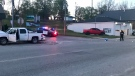 Wardsville, Ont. crash on Longwoods Road on Wednesday, May 12, 2021. (Sean Irvine / CTV News)