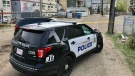 Edmonton police are investigating the suspicious death of a man in the area of 93 Street and 105 Avenue. May 12, 2021. (Sean Amato/CTV News Edmonton)
