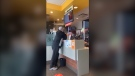A customer has been recorded losing his cool at staff while buying food at a McDonald's restaurant in Richmond.
