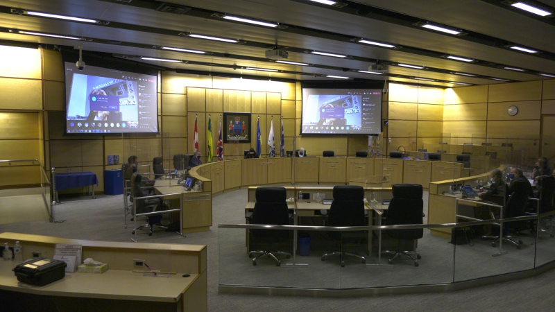 Regina city council discussed trains, the speed limit on Arcola Ave. and a procedural motion Wednesday (Cole Davenport/CTV Regina)