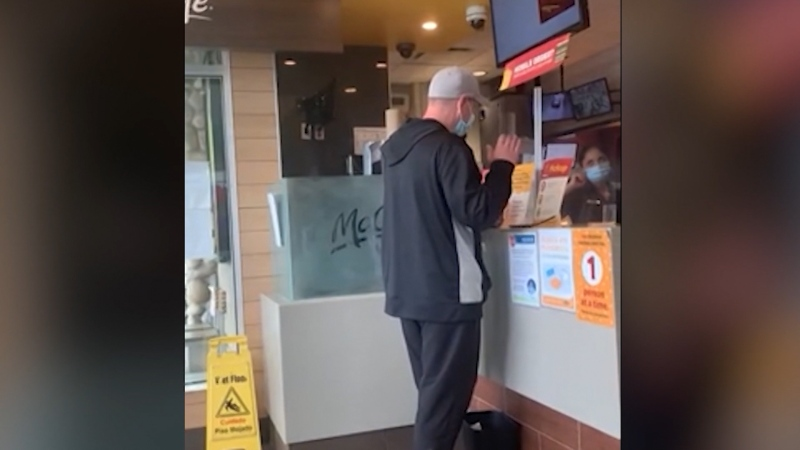 Warning: Tense mask confrontation at a B.C. McDonald's
