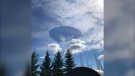 A giant hole in the clouds above Sherwood Park, Alta. May 12, 2021. (Bree-Anna Dudar)