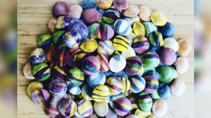 Colourful pasta made by Gianna Vacirca. (Source: Gianna Vacirca)