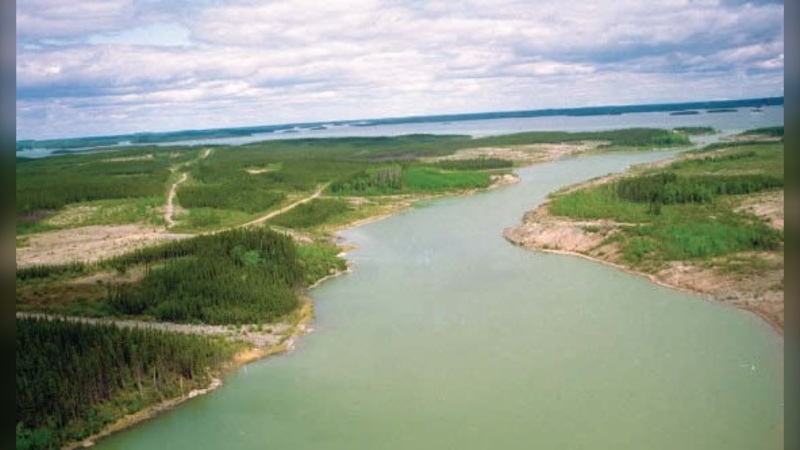 The South Bay Diversion Channel (Source: Manitoba government)