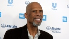 FILE: Kareem Abdul-Jabbar arrives at WE Day California at The Forum on Thursday, April 25, 2019, in Inglewood, Calif. (Photo by Richard Shotwell/Invision/AP)