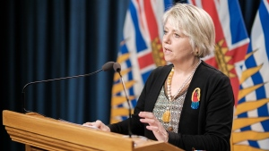 Health Minister Adrian Dix and Chief Provincial Health Officer Dr. Bonnie Henry provide an update on COVID-19 on May 10, 2021. (Province of BC/Flickr)