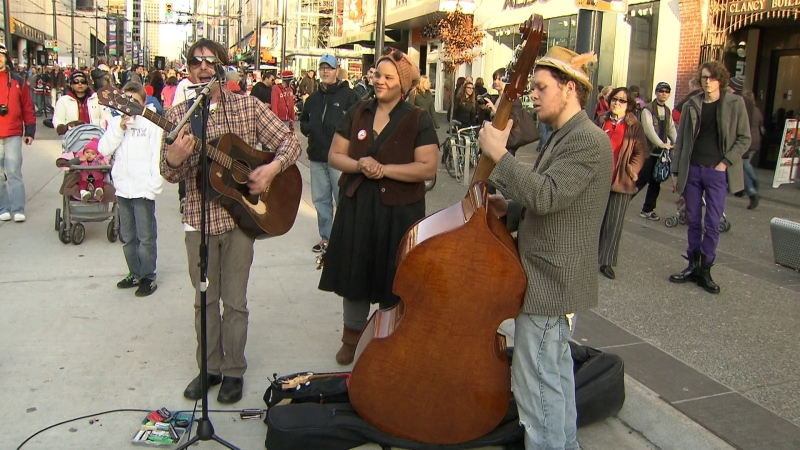 The City of Vancouver is debating giving the Granville Street entertainment district a whole new look - at least for the summer.