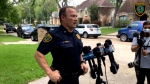 Ron Borza, Houston Police Commander, is shown asking for the public's help to find the suspect on May 10. (Houston Police)