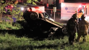 Mounties in Burnaby say a driver was taken to hospital after crashing their car on May 12, 2021.