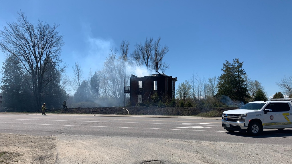 Highway 10 house fire