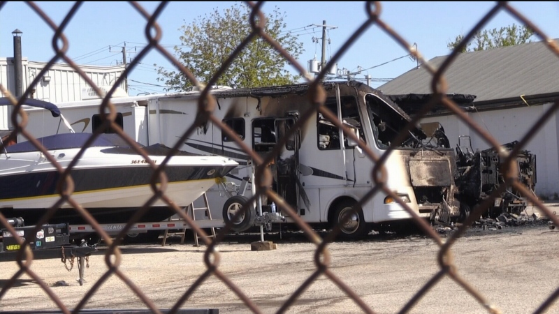 Mechanical issue likely caused fire
