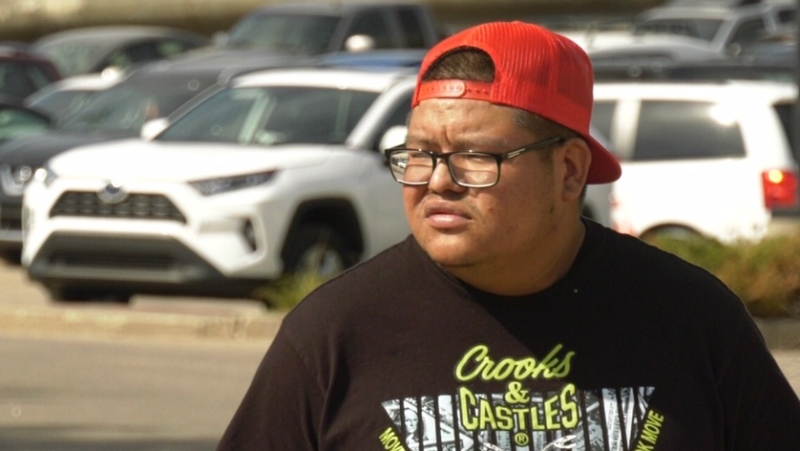 Brett Herman is pictured outside Prince Albert Provincial Court on MAy 13, 2021. (Jayda Taylor/CTV Prince Albert)