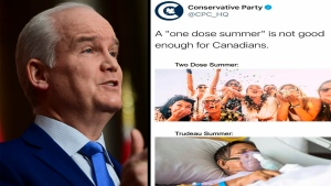 O'Toole comments on Conservative tweet