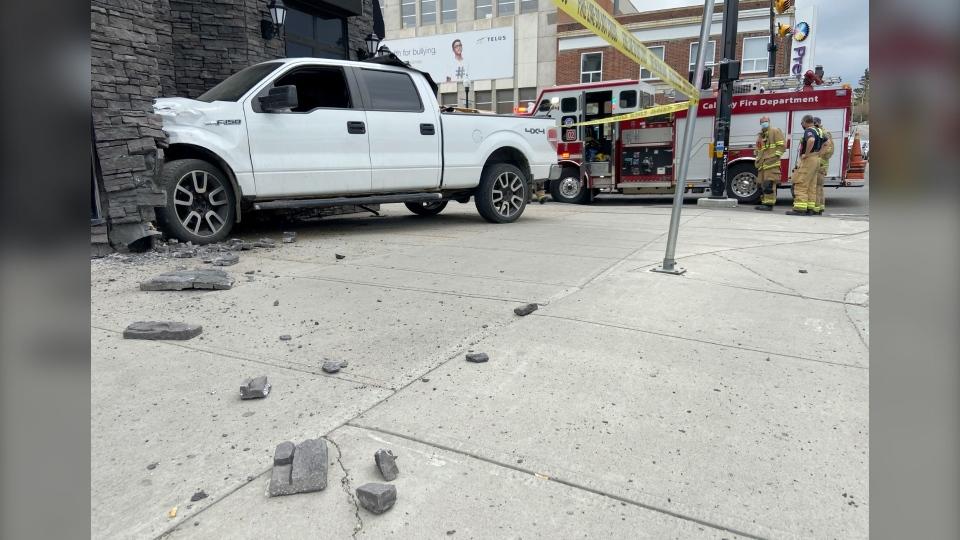 Calgary crash into building