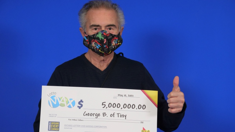 George Barber of Tiny Township is $5 million richer after claiming Lotto Max prize, April 23, 2021. (OLG)