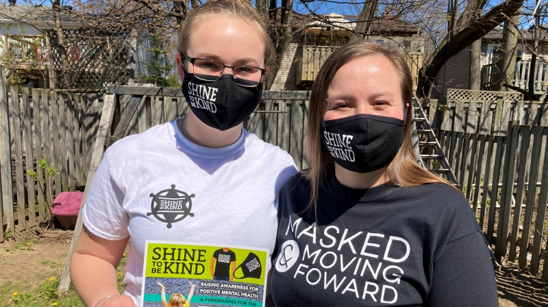 Teara and daughter Alexis Stringer are hosting a fundraiser for CMHA through their 'Shine to be Kind' campaign. (KC Colby/CTV)