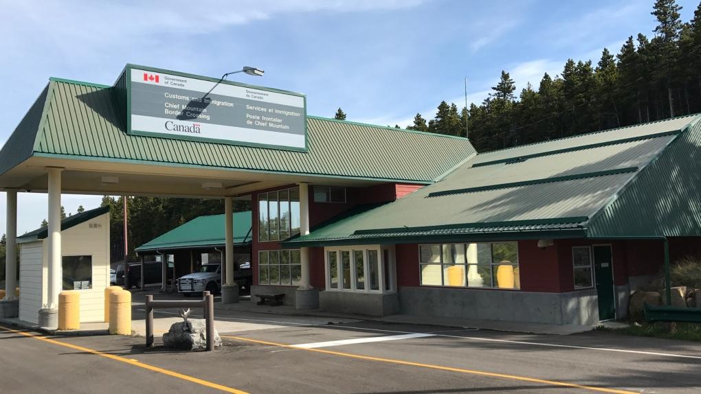 Chief Mountain, Alberta, Montana, border crossing