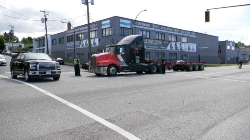 The incident happened on May 7, when the 85-year-old victim was crossing Clark Drive at William Street and was struck by a semi truck. (CTV)