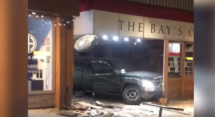 Arrest made after stolen truck crashed into store