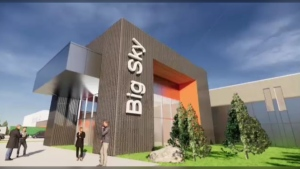 An artist's rendering of Big Sky Studios.