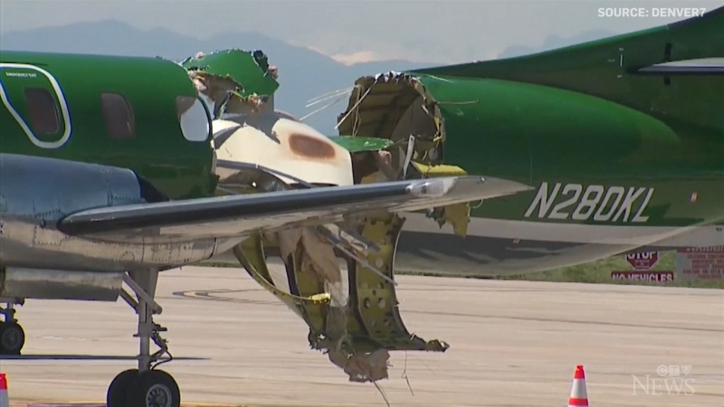 No injuries reported after planes collide