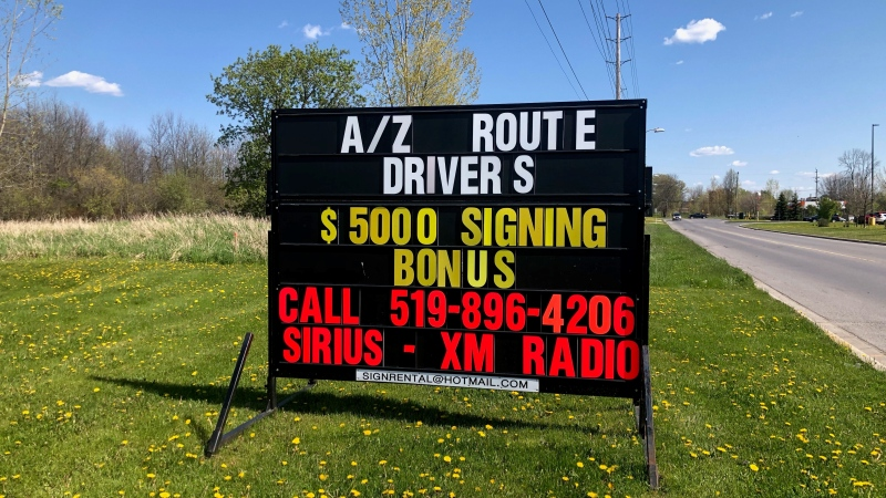 A company in Brockville is offering a $5,000 signing bonus for A/Z truck drivers. (Nate Vandermeer/CTV News Ottawa)