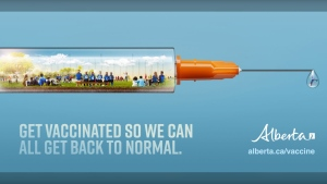 Alberta's Back to Normal ad campaign aims to remind residents about what they could be missing out on this summer by not getting their COVID-19 vaccine. (Supplied)