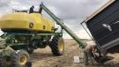 Seeding is underway at IXL Farms Inc. near Moose Jaw, on May 13, 2021. (Stefanie Davis/CTV News)