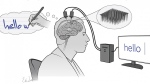 Scientists have developed a brain-computer interface to help people who are paralyzed with written communication. (Shenoy lab & Erika Woodrum)