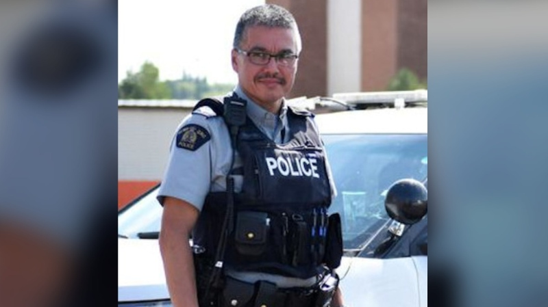 Bernie Herman, a 32-year member of the RCMP, is charged with first-degree murder in the death of Braden Herman. (Alison Sandstrom/paNOW)