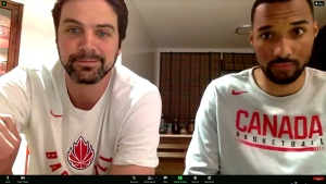 Calgarians Kyle Landry and Jordan Jensen-Whyte are members of Canada's national three on three men's basketball team.  Right now they're training in Spain but later this month the team will be in Graz, Austria for an Olympic qualifier.