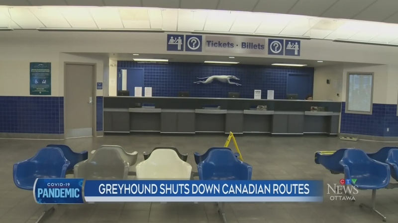 Greyhound shuts Canadian bus routes