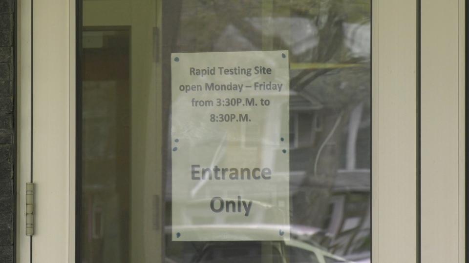 rapid testing regina schools