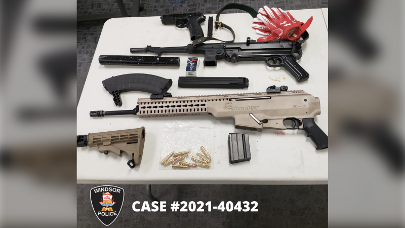 Evidence seized in search following Windsor Police Drugs and Guns (DIGS) Unit investigation in Windsor, Ont. on Wednesday, May 13, 2021. (courtesy Windsor Police Service)