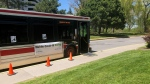 A mobile COVID-19 testing clinic is seen in this photograph taken on May 13, 2021. (Mike Walker/CTV News Toronto)