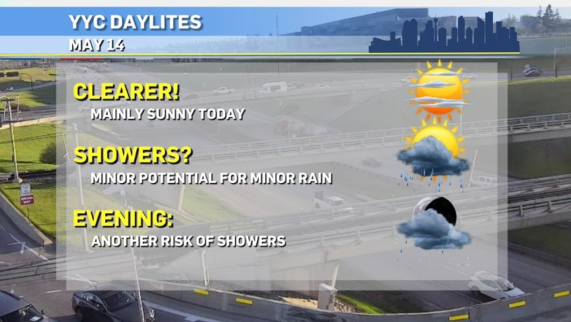 Calgary weather, May 14