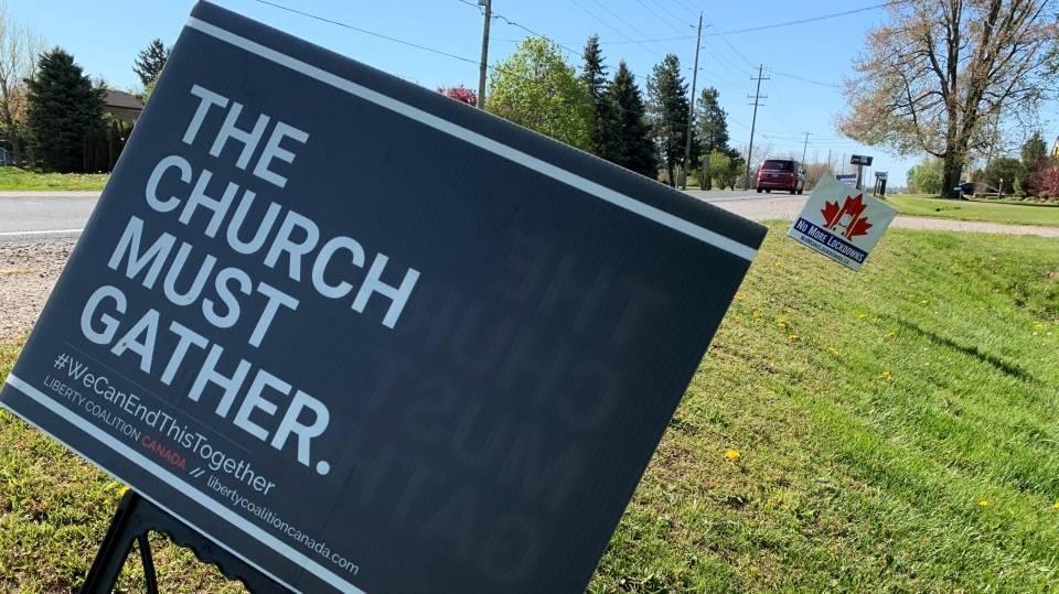 'The Church Must Gather' sign