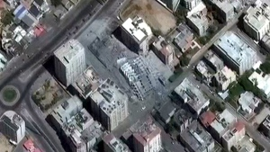 Damage caused by fighting seen from space