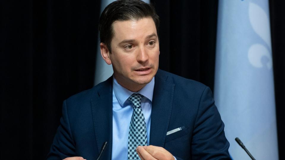 Quebec Minister for the French Language Simon Joli