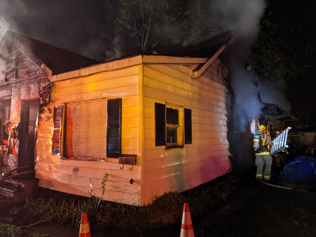 House fire on Degge St. Chatham (May 14, 2021)