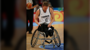 Patrick Anderson of Vancouver leaves the court after Canada's loss to Australia in the gold medal game in men's wheelchair basketball action in Beijing during the Paralympic Games, Tuesday, Sept., 16, 2008. THE CANADIAN PRESS-HO-CPC/Mike Ridewood