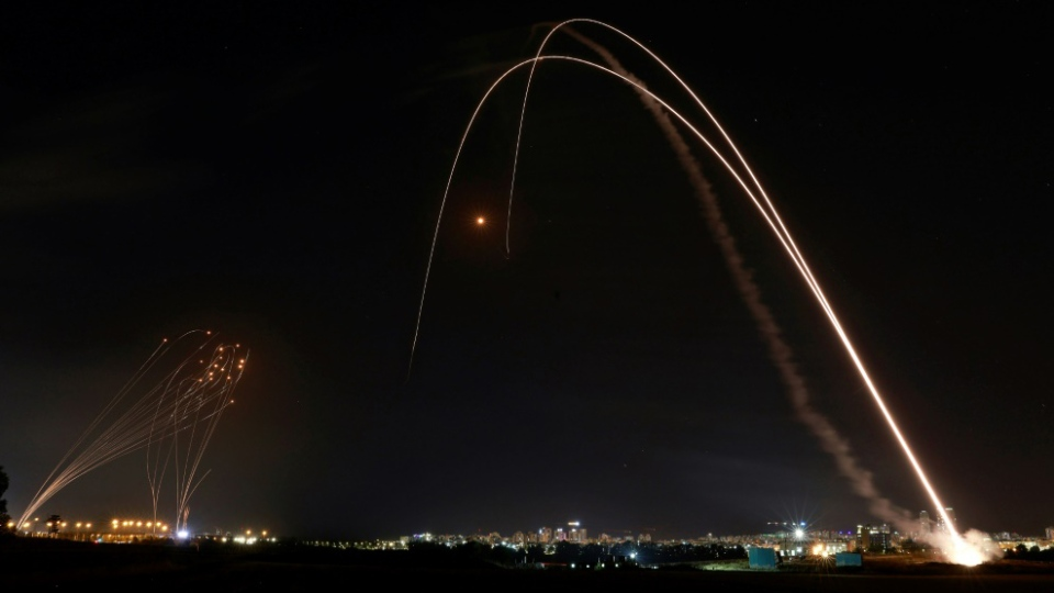 Rockets fired over the Gaza Strip