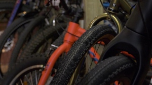 Bikes are pictured at Doug's Spoke and Sport. (Chad Leroux/CTV Saskatoon)