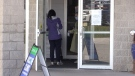 A resident arrives at a COVID-19 clinic in Bradford West Gwillimbury, Ont. on Fri. May 14, 2021. (Mike Arsalides/CTV News)