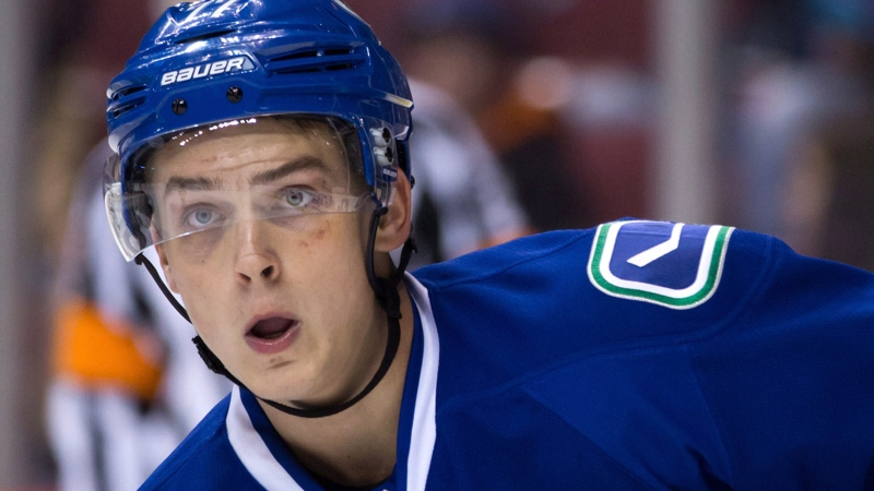 Vancouver Canucks' Jake Virtanen skates during the first period of a preseason NHL hockey game against the Arizona Coyotes in Vancouver, B.C., on Monday, September 28, 2015. THE CANADIAN PRESS/Darryl Dyck
