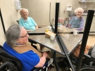Residents at Heron Terrace in Windsor, Ont. are all smiles now that communal dining is back after more than a year of eating in isolation. Michelle Maluske/CTV Windsor
