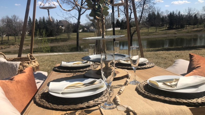 Picnique offers themed luxury picnic packages. (Mackenzie Read/CTV News)