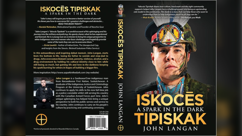 John Langan is releasing Iskocēs Tipiskak: A Spark in the Dark, a two-part book focusing on his life and Indigenous culture. (www.asparkinthedark.com)