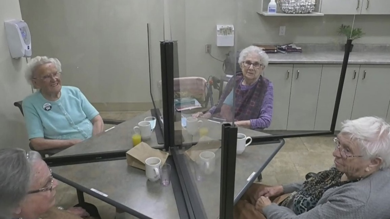Long term care residents re-connect