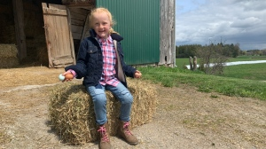 Six-year-old Gabby is starring in a new TV show about farming.